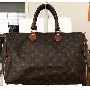 💯Authentic Louis Vuitton Speedy 35 Shoulder Bag